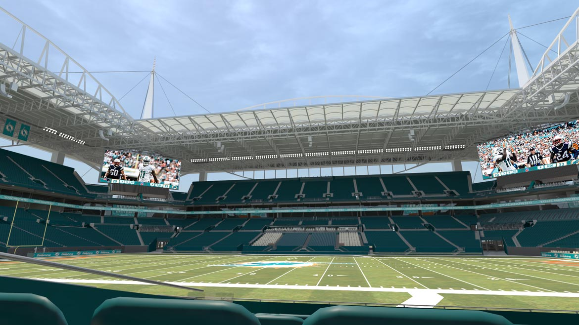 View From Lower Level Sideline Seats