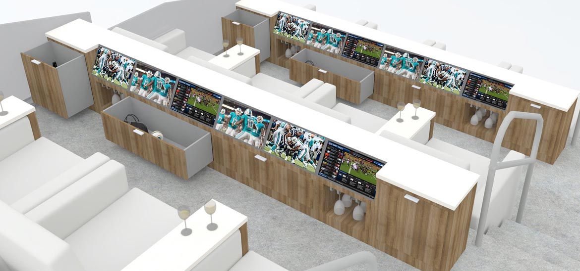 Rendering of the 72 Club Living Room Boxes